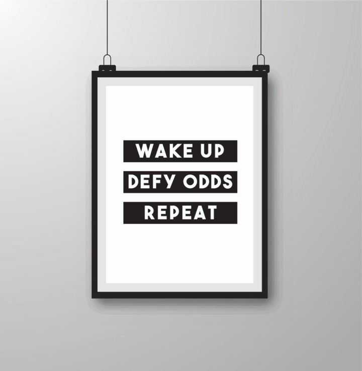 Daily Fix:Defy Odds